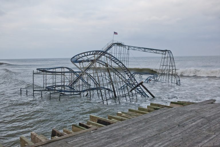 Hurricane Sandy damage in New Jersey
