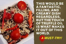 raw food herbal truffle risotto chef belive