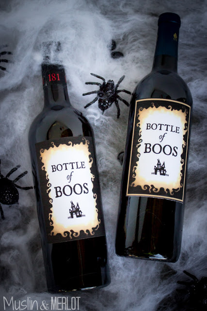 Do not fear! the Momma and Dadda's in the house can have some fun and FREE printables too. These are for your Bottle of Boos and are from Muslin and Merlot.