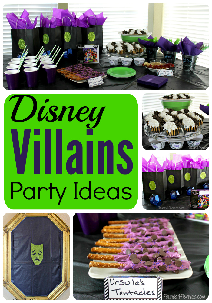 Mainly Homemade has provided us with all of the ideas that we need to put together a great Disney Villains Party. This one is not only great for Halloween but also for birthday parties.