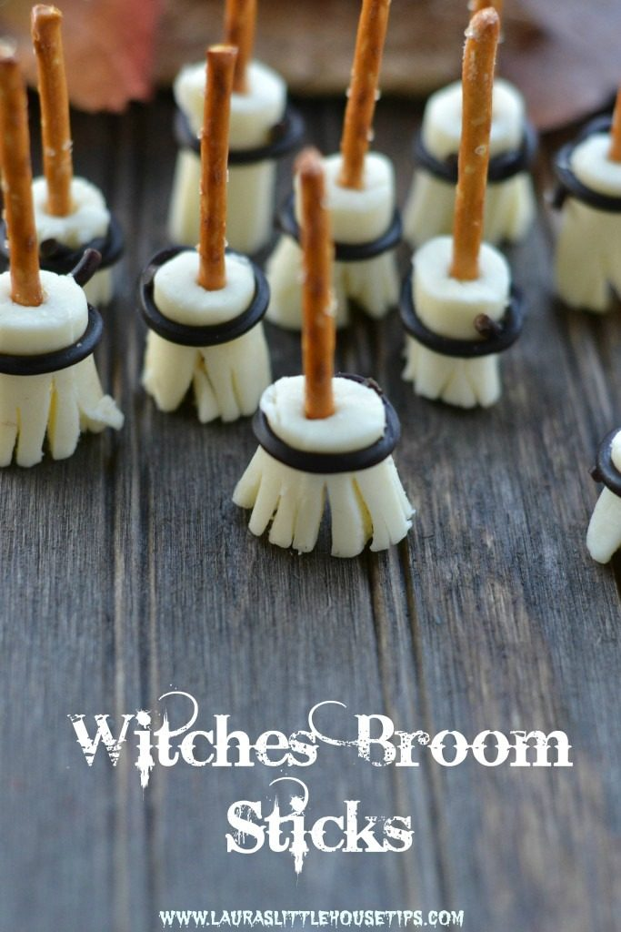 Now about those eats. These Witches Broomsticks over at Laura's Little House Tips are pretty easy and pretty darn cute too.