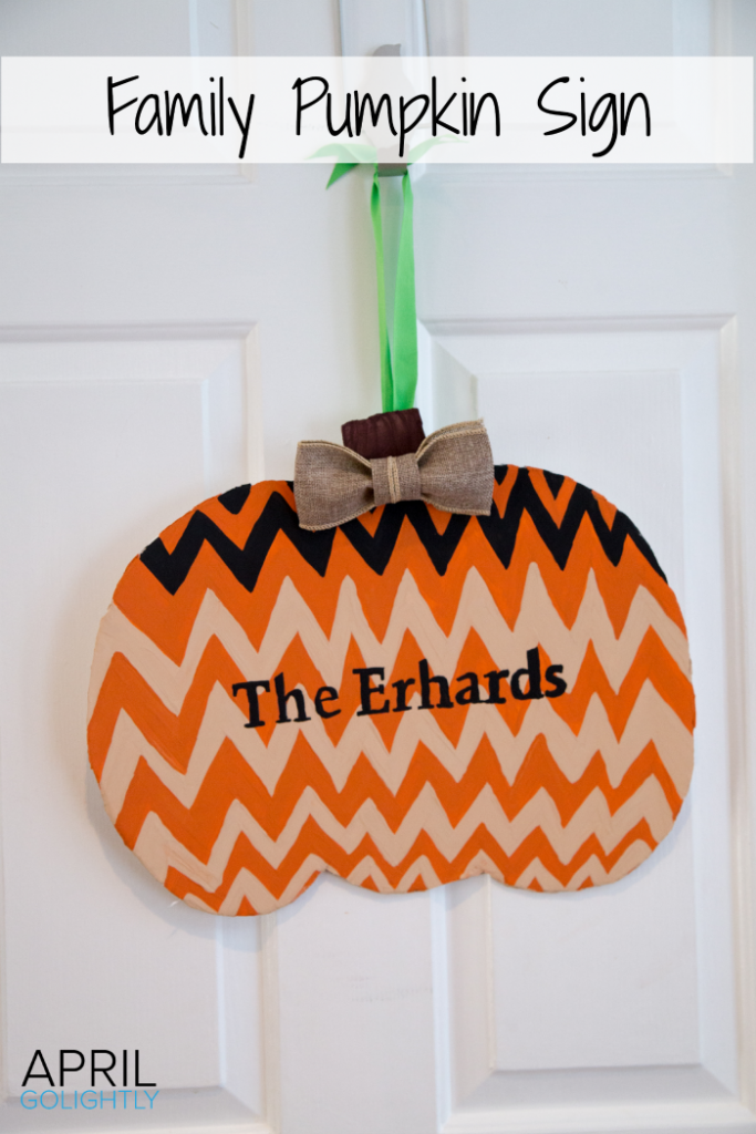 "April Go Lightly offers us this great sign for decorating in Fall Color's. It would not really work for me (""The Ho's"") but it may be really cute for you."
