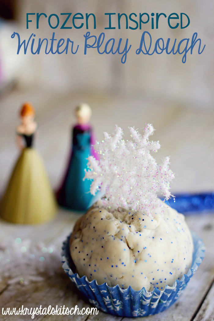 Who does not love the idea of essential oils in their play dough? As far as I am concerned Krystals Kitch hits it out of the park with this Winter Art inspired by Disney's Frozen.