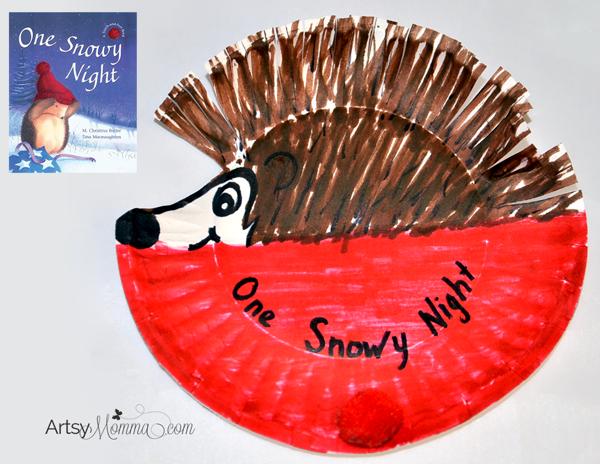 One-Snowy-Night-Hedgehog-Craft Winter Art