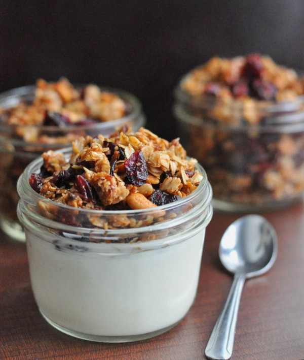 Breakfast Cranberry Granola from Dining with Alice