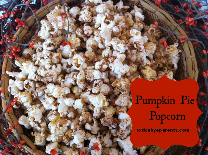 Rock-A-Bye Parents Pumpkin Pie Popcorn is so unique and delicious. For a sugar free experience just skip the added sugar.