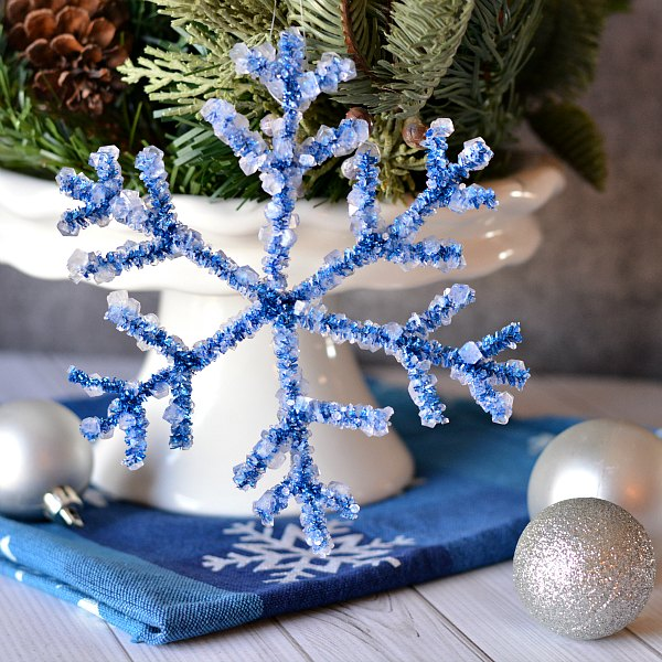 This pipe cleaner snowflake craft is really cute and I do love that Camille at Growing Up Gabel keeps her decorations really meaningful.
