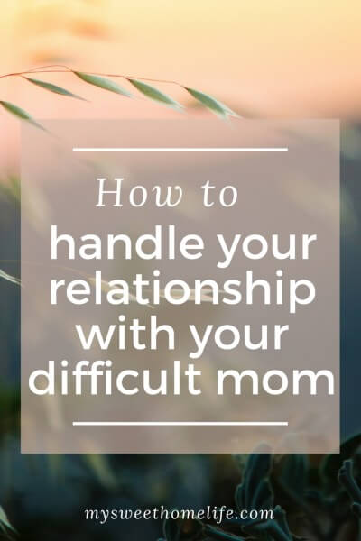 How To Handle Your Relationship With Your Difficult Mom made it clear to us that My Sweet Home Life is not always sweet. Sometimes there is some spice.