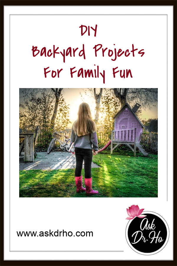 Blog title card of a child looking at a backyard playhouse