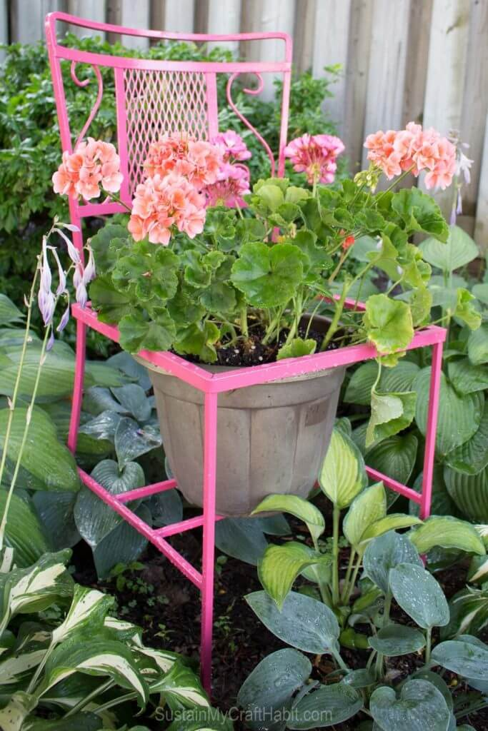 I love this whimsical upcycled* Wildfire Patio Chair Planter from Sustain My Craft Habit. This is major trash to treasure brilliance at work.
