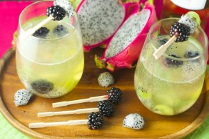 This Tropical Moscato Sangria has bunches of fruits in the form of kiwi, dragon fruit and blackberries and it has zero added sugar. If you liek something with some bubbles then you wil likely really like this offering from Living Sweet Moments.