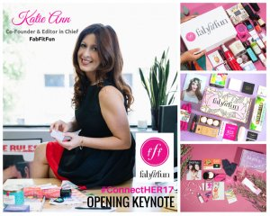 This years ConnectHer keynote speakers included Katie Ann Rosen Kitchens of FabFitFun. A big part of her message is to not be afraid to make mistakes.