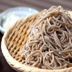 "Soba Noodles are #glutenfree and high in protein."" username=""askdrho""] The noodles are a Japanese pasta noodle made from buckwheat that may help to lower blood pressure, cholesterol and reduce your risk of diabetes, In addition, they are rich in insoluble fiber."