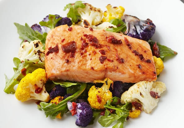 Chipotle Salmon with-Arugula Salad Recipe