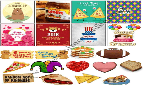 Free February 2018 Stickers