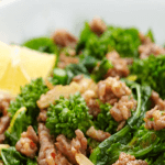 Broccoli Rabe with Hot Italian Sausage is#lowcarb #glutenfree anddelicious served hot or cold.