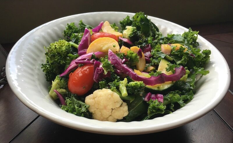 Citrus Burst Fall Salad with Cauliflower and Kale is perfect in the Fall as both the Cauliflower and Kale reach their peak seasons. This delicious Fall Salad is elevated frombland to grand due to the addition of the salt-cured lemon slices.