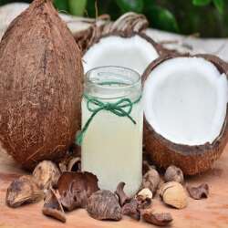 Coconut has a history of improving skin by aiding elasticity and fighting oxidative stress.