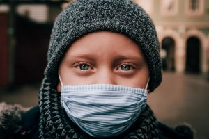 Child in a mask pandemic