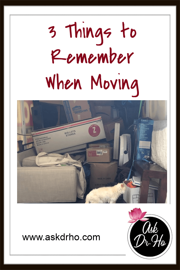 3 Things to Remember When Moving
